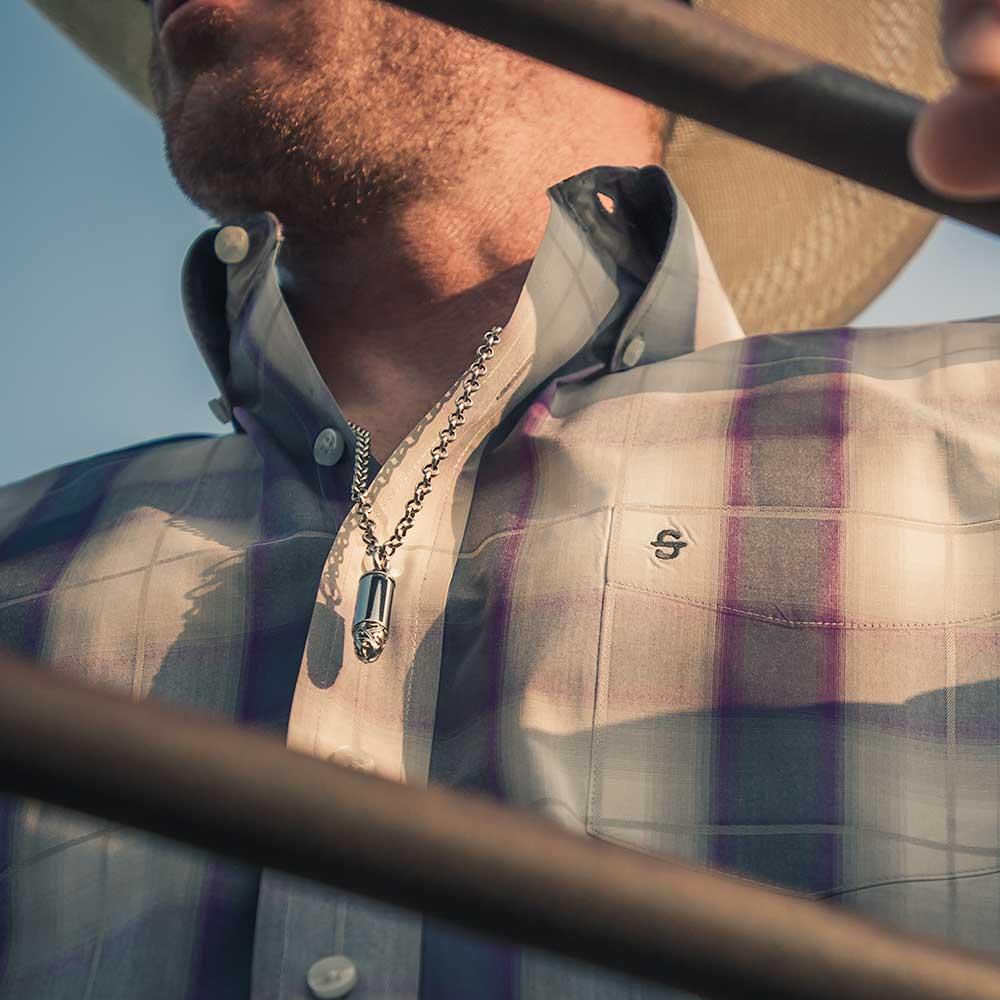 One Filigree Shot Bullet Necklace