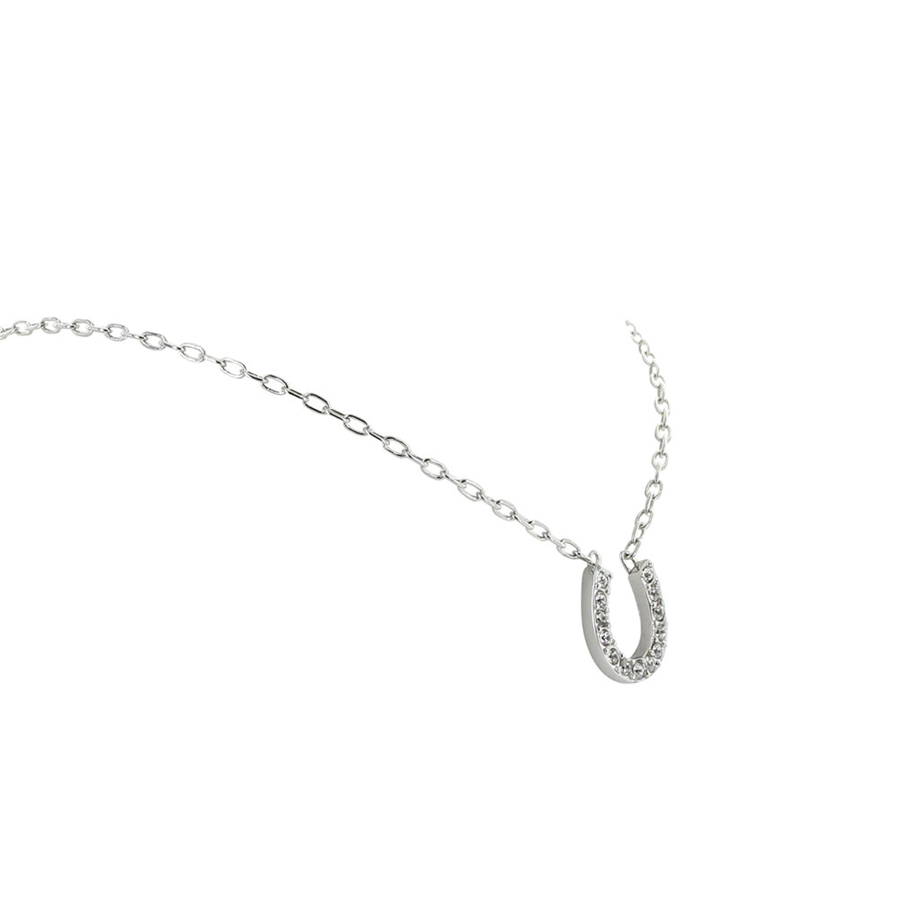 Crystal Clear Lucky Horseshoe Necklace