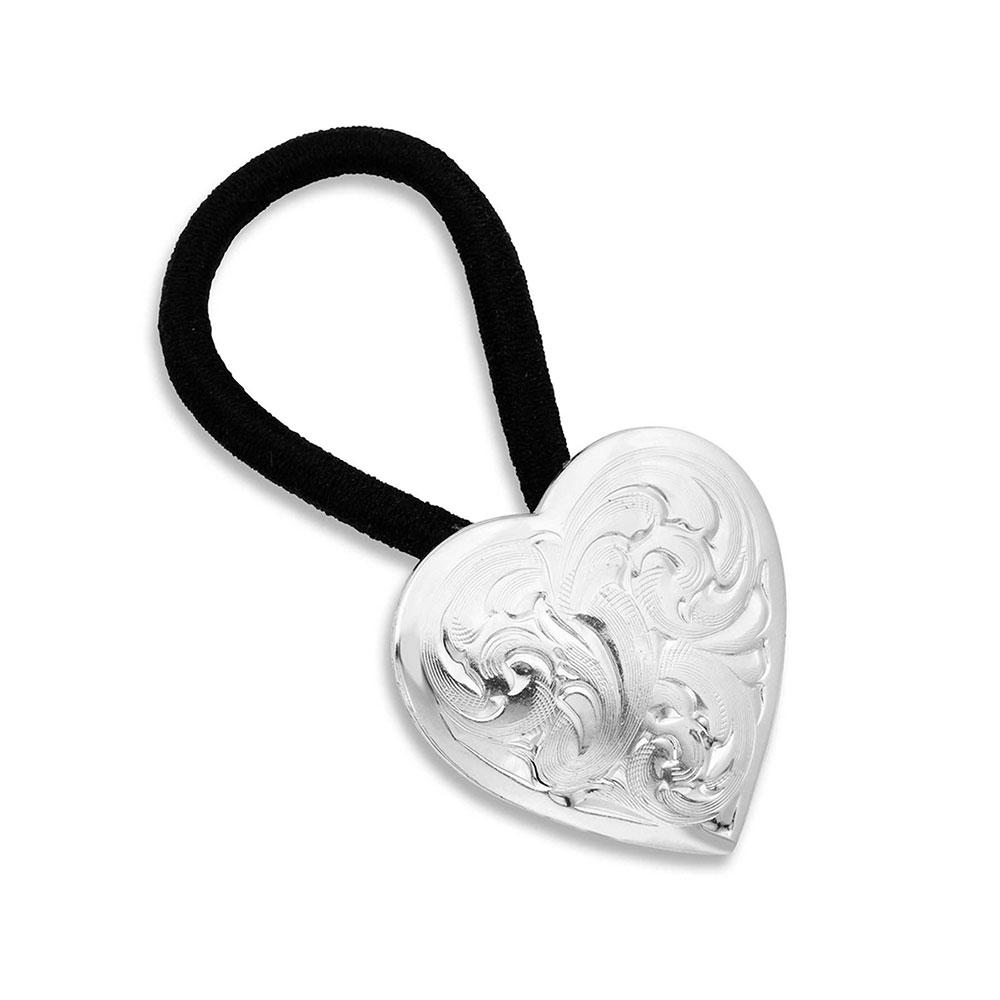 Classic Heart Concho Hair Tie