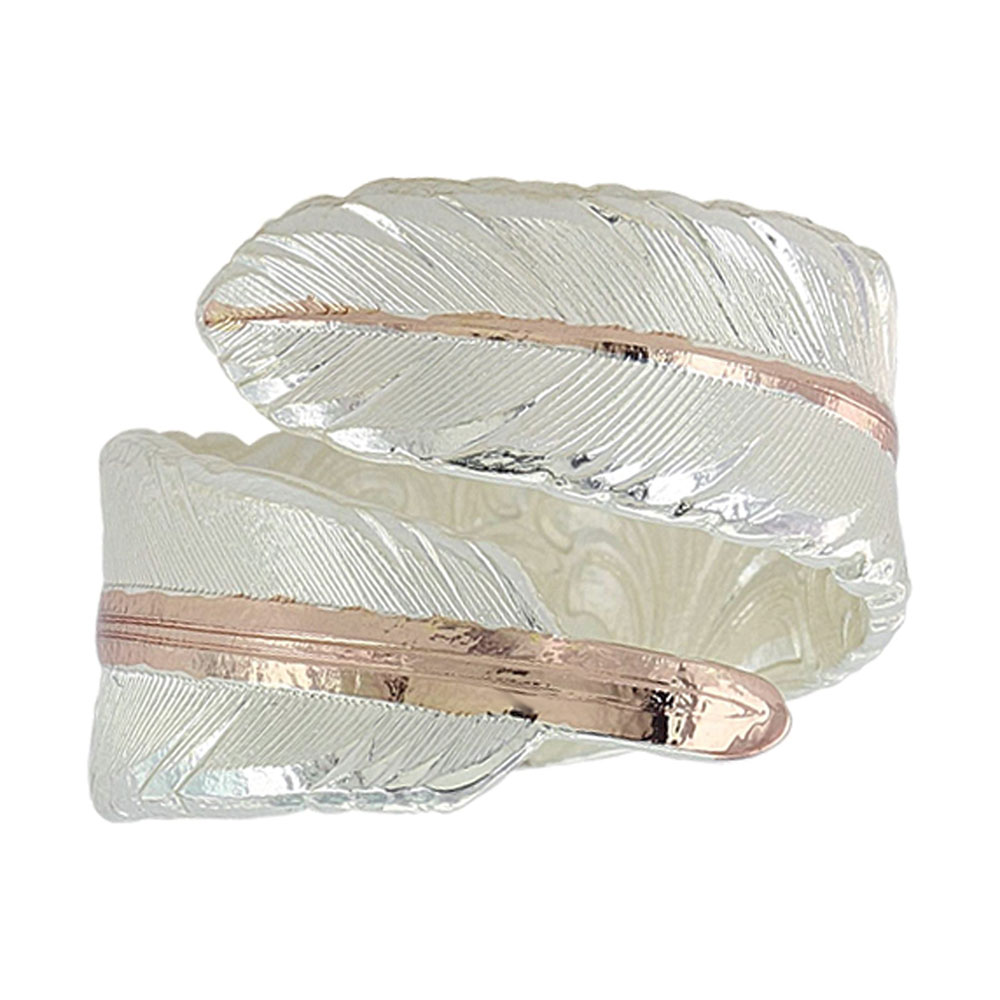 Rose Gold Filament Feather Ring