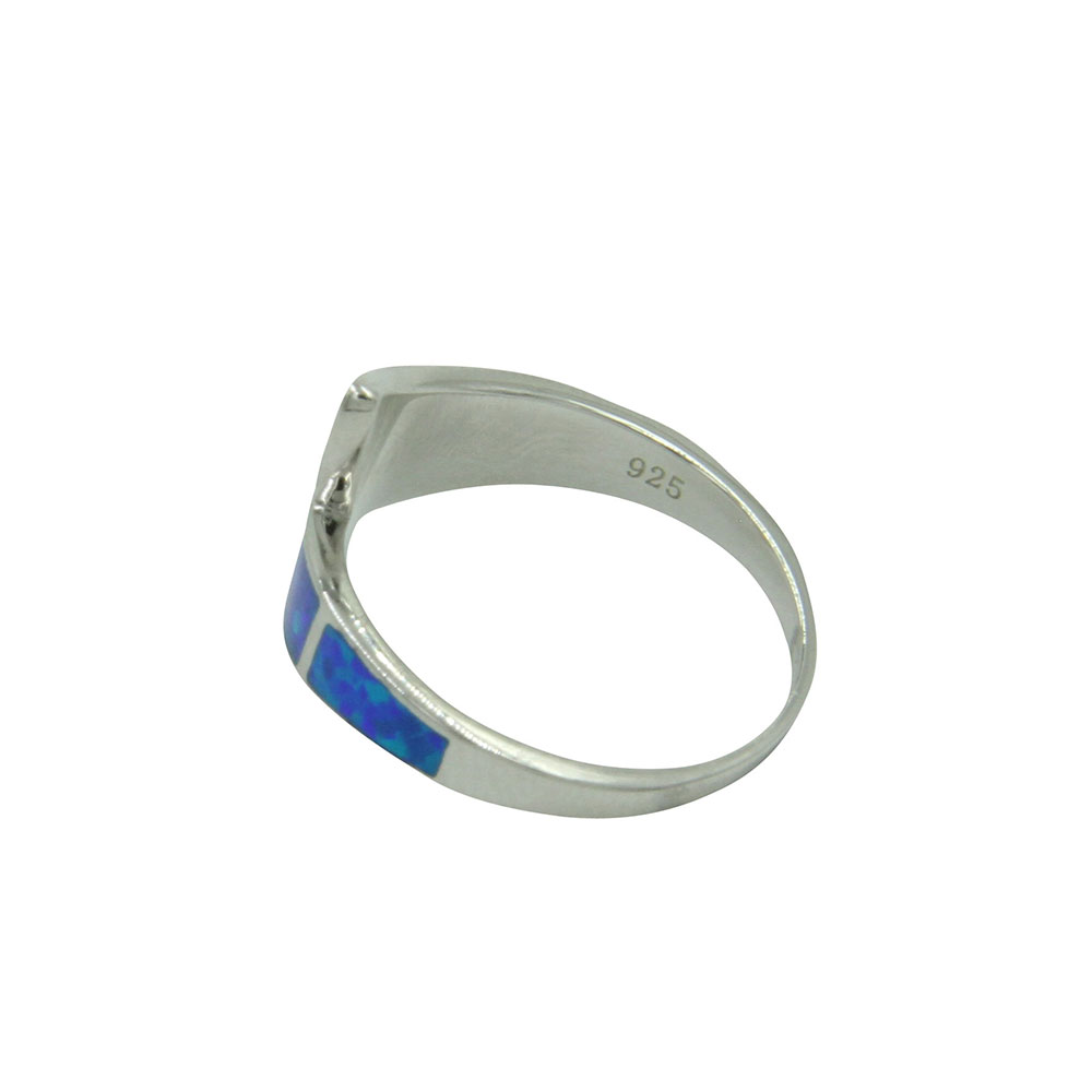 River of Lights Dueling Waves Opal Ring