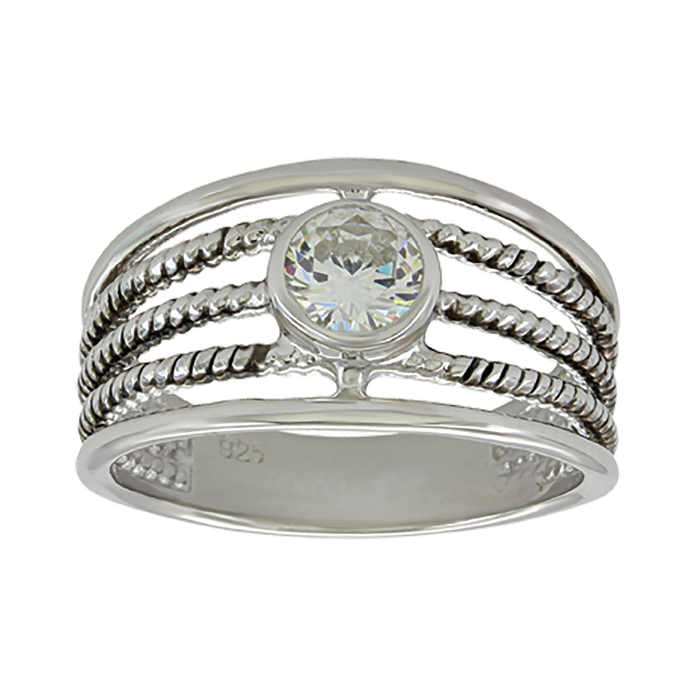 Triple Rope Solitaire Ring