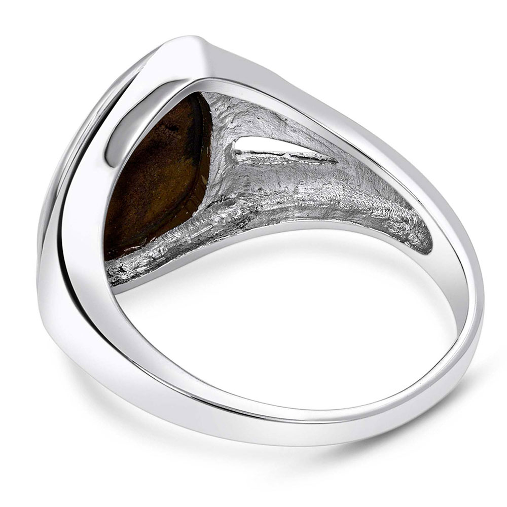 River of Lights Abstract Teardrop Ring