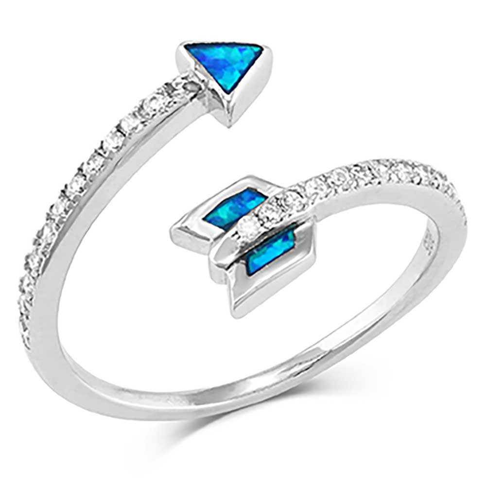 Twisting Arrow Opal Ring