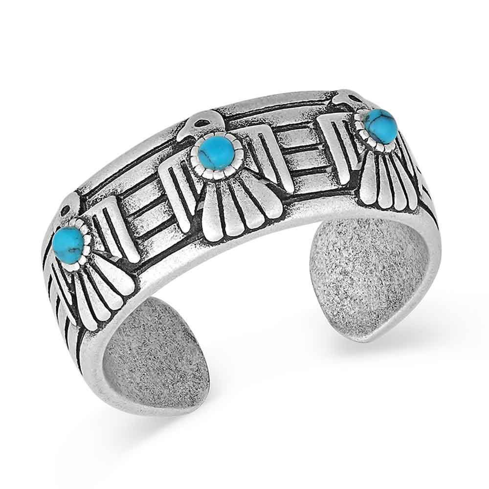 Rising Above Thunderbird Turquoise Ring