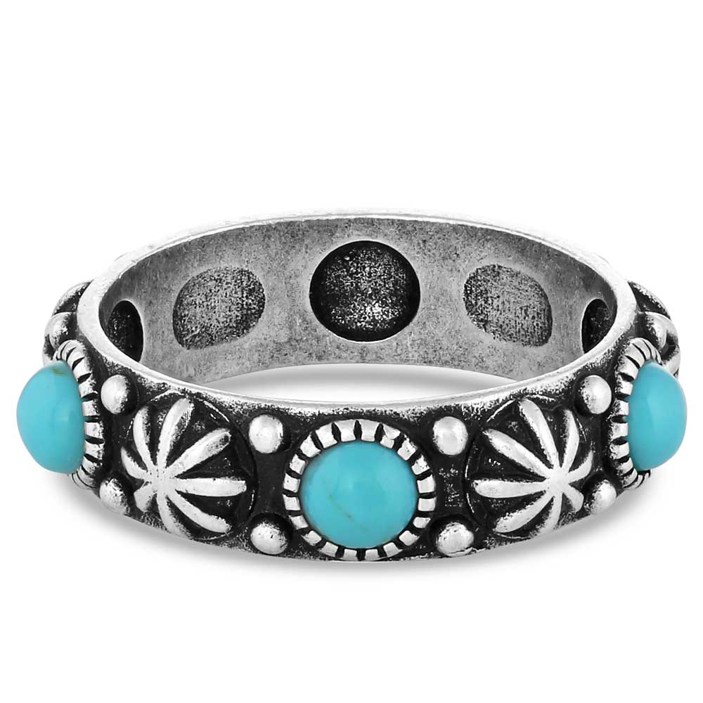 Starlight Starbrite Stone Turquoise Silver Ring