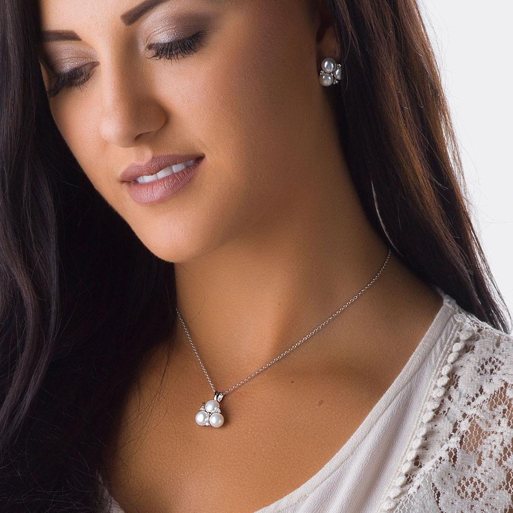 Sterling Lane Trinity of Beauty, Wisdom and Loyalty Earrings