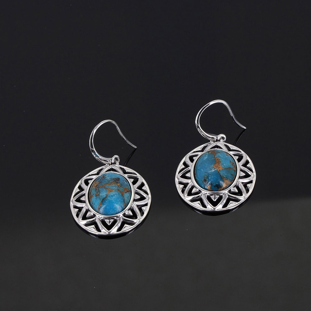 Sterling Lane Sun Dance Turquoise Earrings
