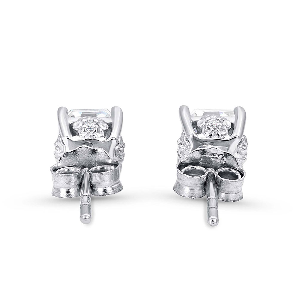 Sterling Lane Wild Rose Solitaire Earrings