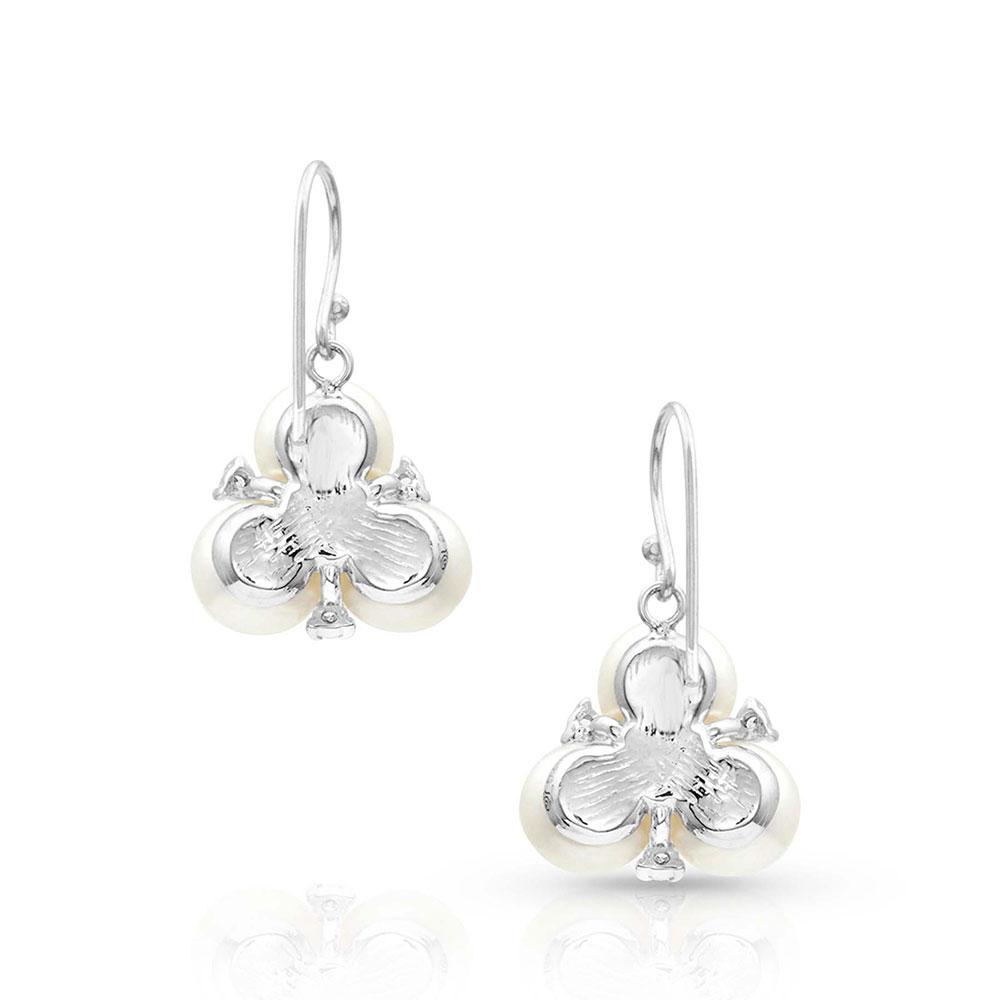 Sterling Lane Trinity of Beauty, Wisdom and Loyalty Dangle Earrings