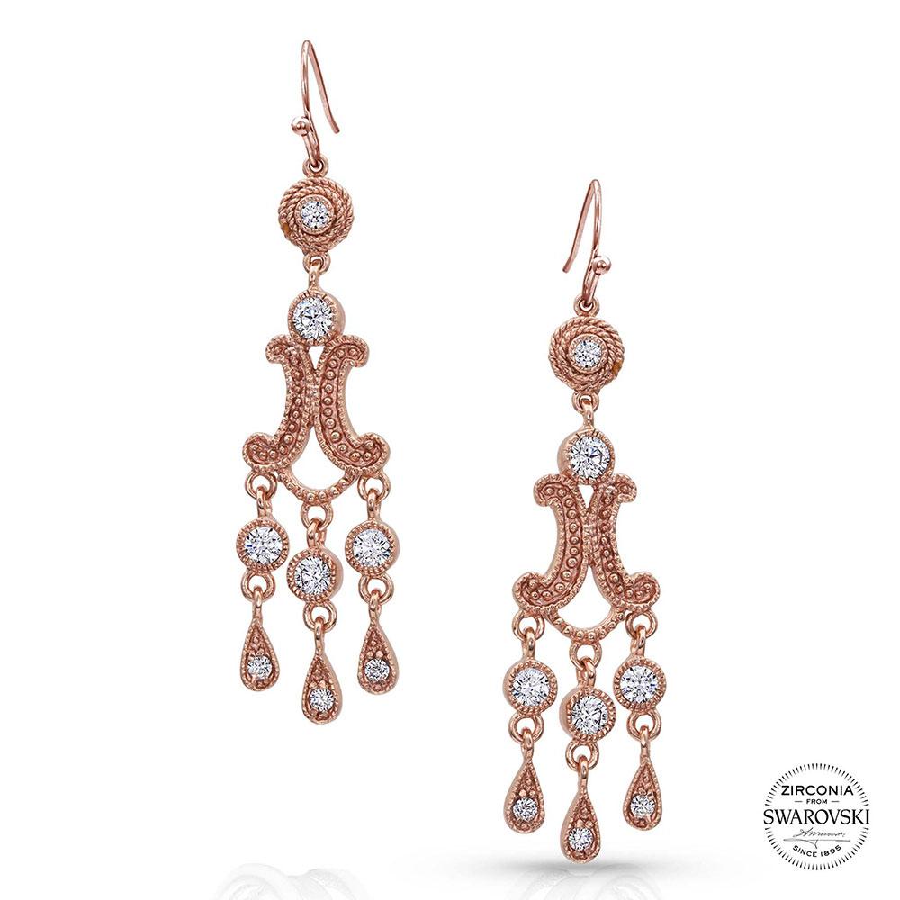 Sterling Lane Cierra Rose Chandelier Earrings