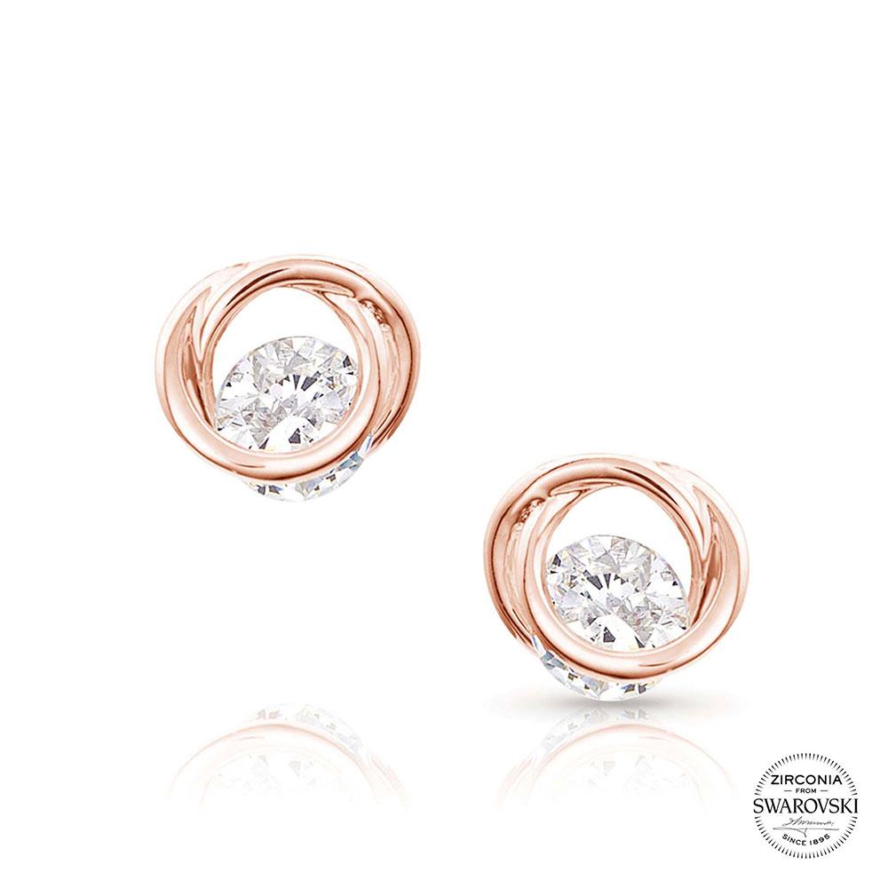 Sterling Lane Little Darling Rose Earrings