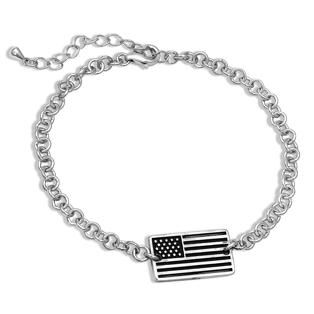 Pursue the Wild Freedom Isn't Free Flag Bracelet