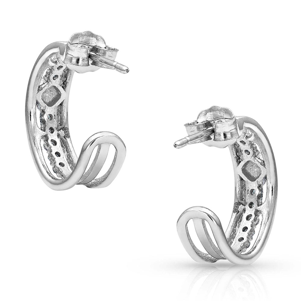 Pursue the Wild Sign of Attraction Hoop Earrings