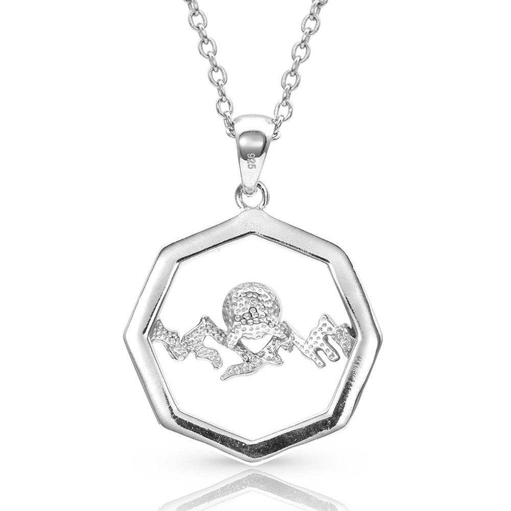 Pursue the Wild Over the Horizon Pearl Necklace