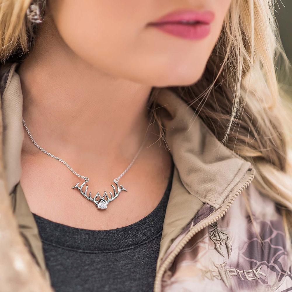 Pursue the Wild Jeweled Masterpiece Antler Necklace