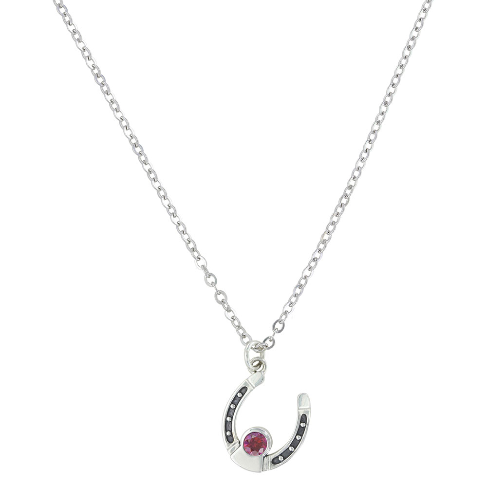 Sterling Lane Personally Yours Birthstone Horseshoe Necklace
