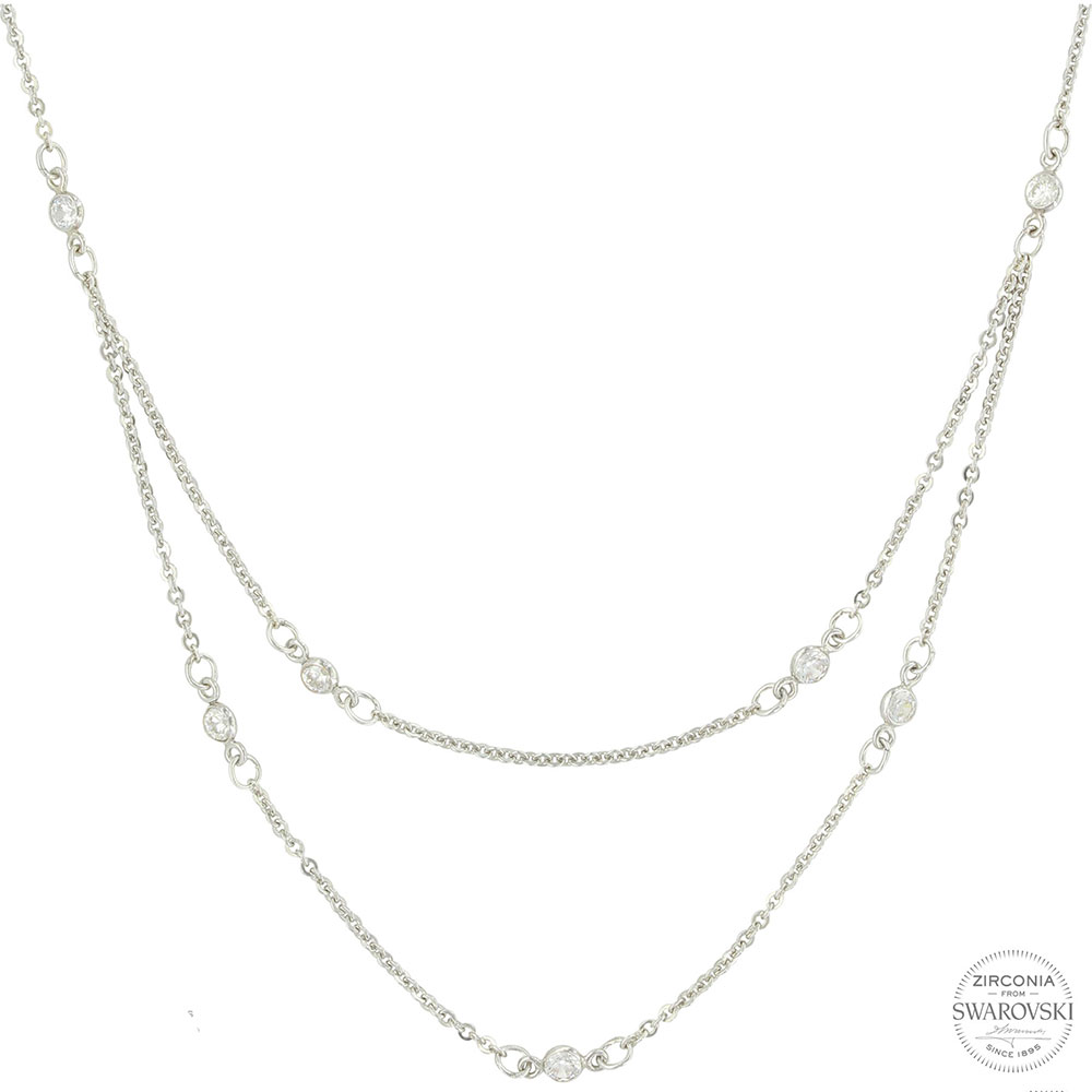 Sterling Lane Shimmer Duo Necklace