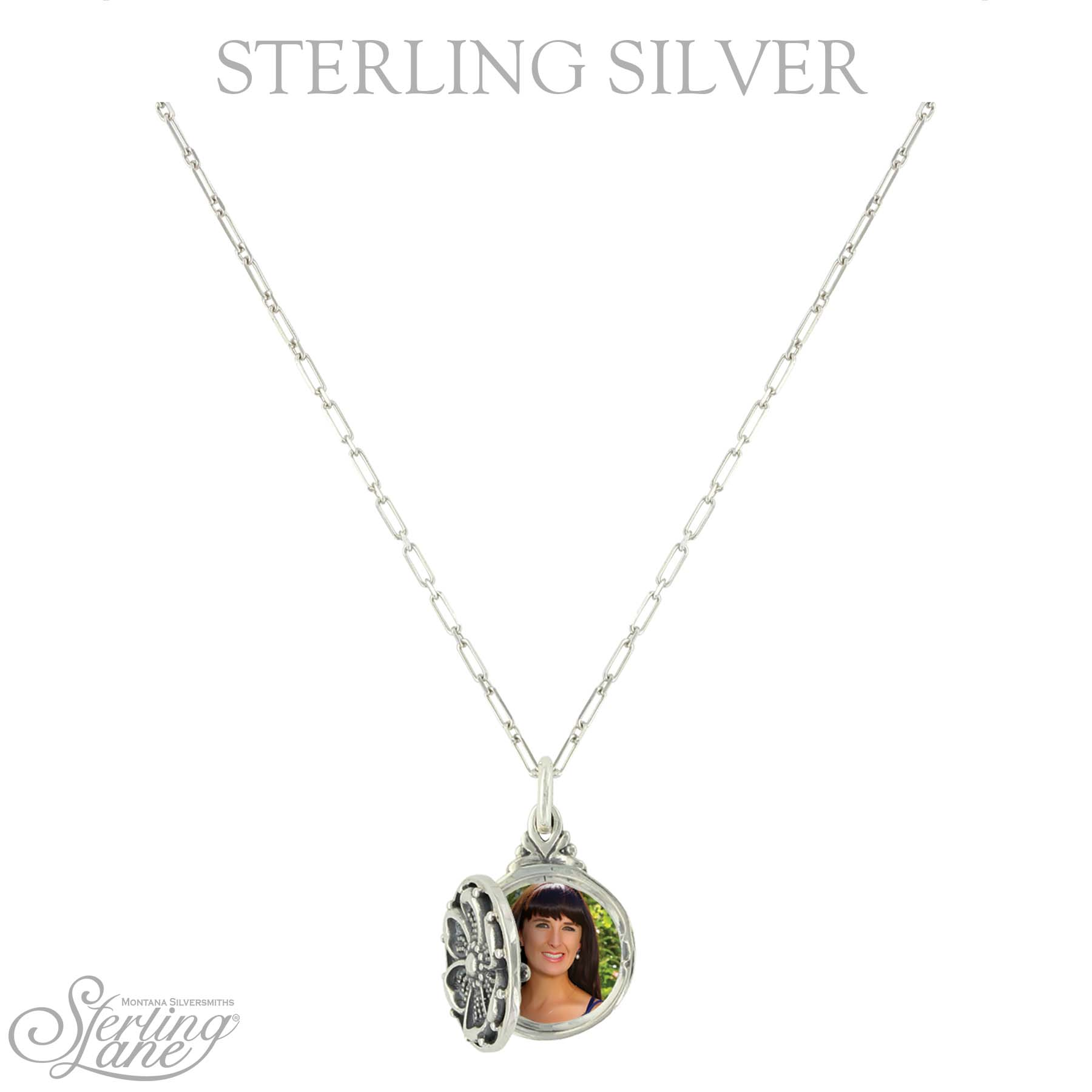 Sterling Lane Buttercup Locket Necklace