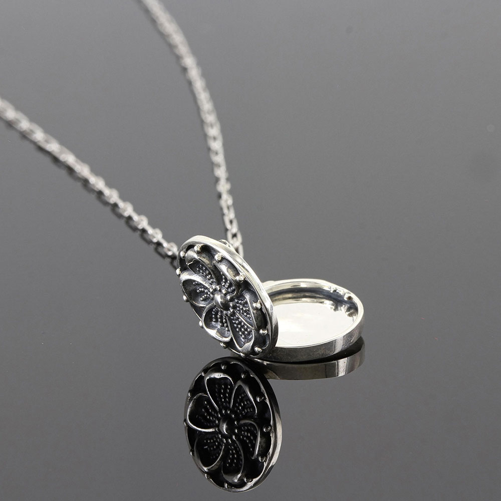 Sterling Lane Buttercup Locket Necklace