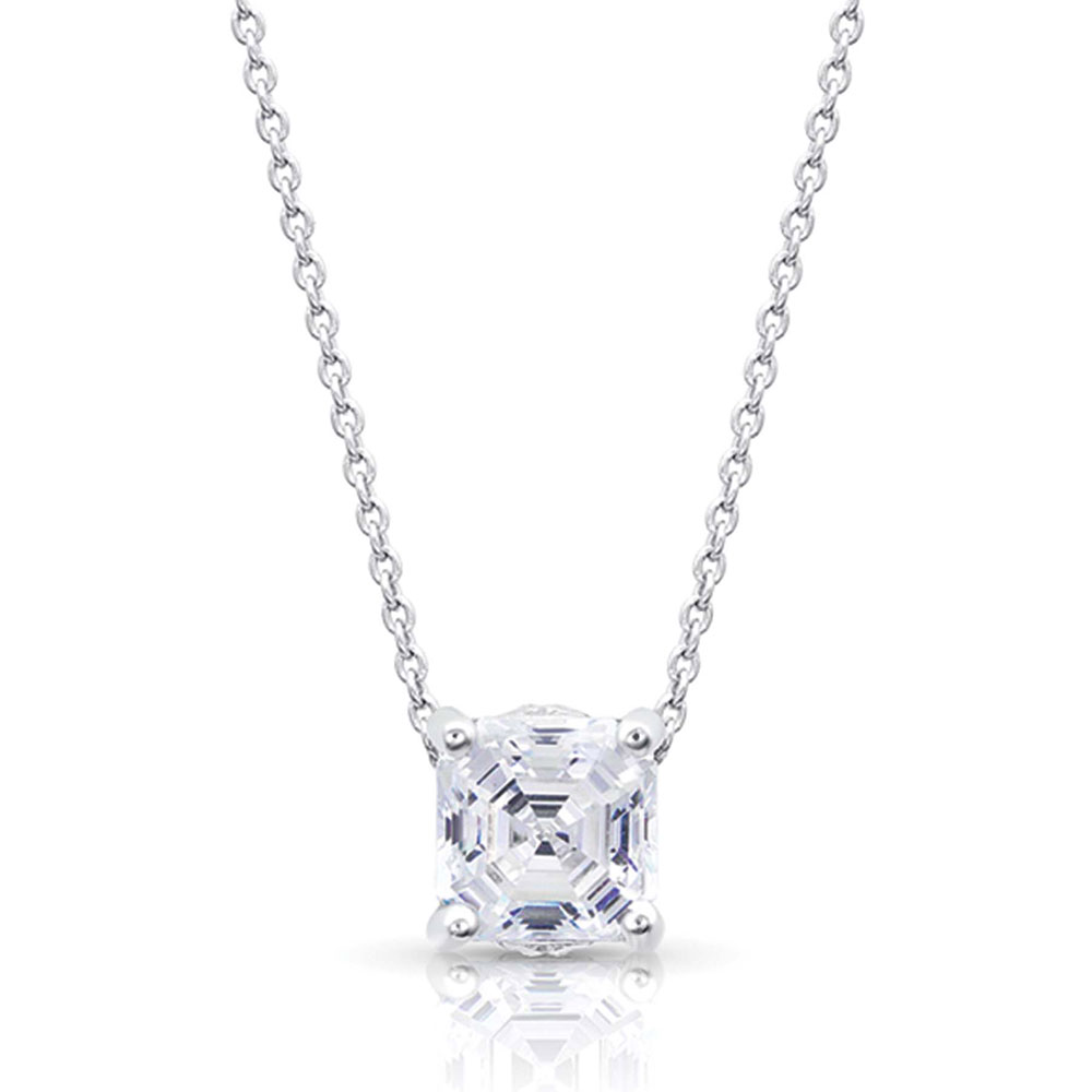 Sterling Lane Wild Rose Solitaire Necklace