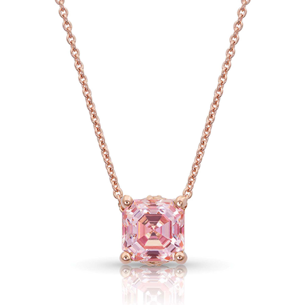 Sterling Lane Rose's Wild Rose Solitaire Necklace