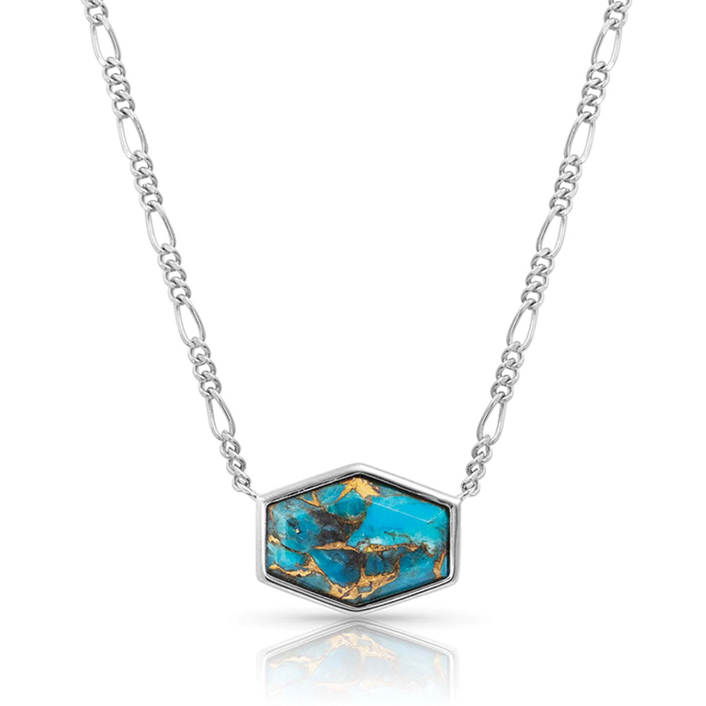 Sterling Lane Fearless Turquoise Signet Necklace