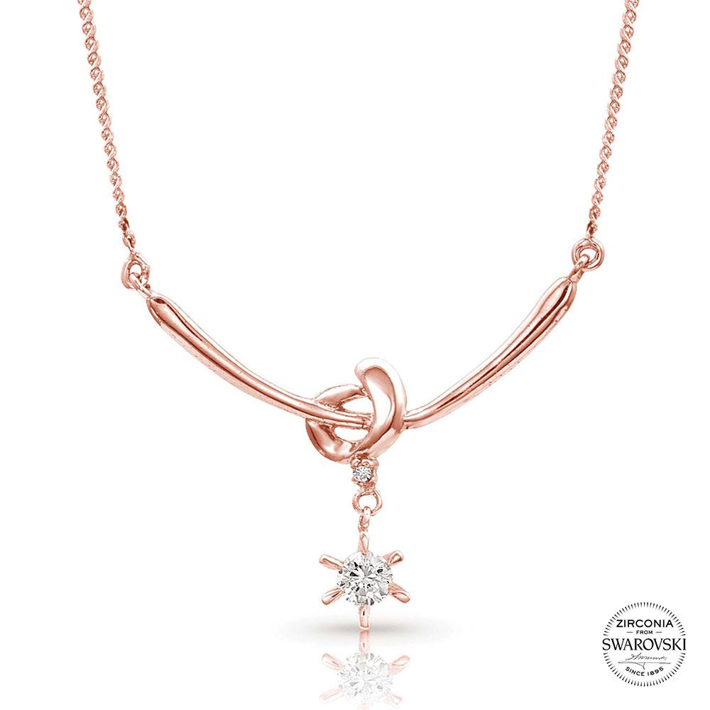 Sterling Lane Rose Love Knot Necklace