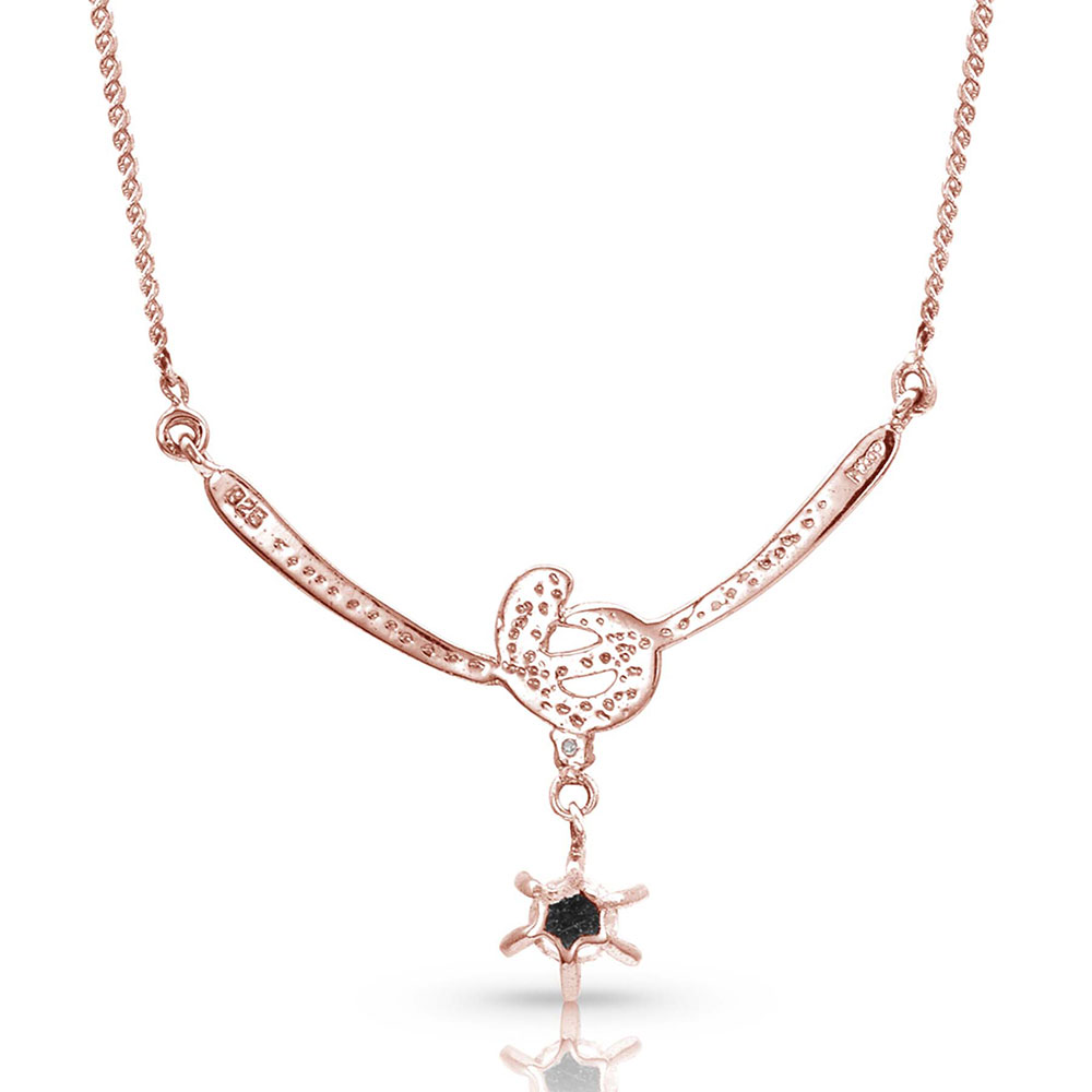 Sterling Lane Rose Love Knot Necklace