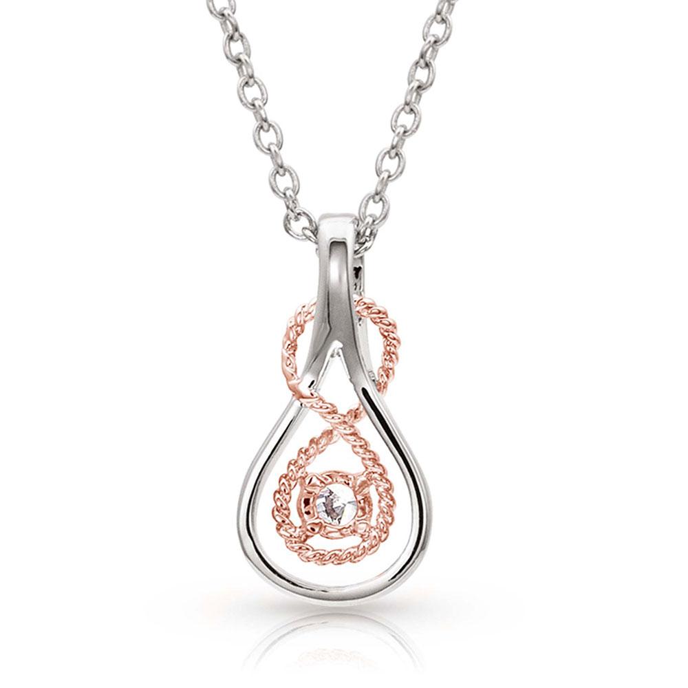 Sterling Lane Timeless Rose Necklace