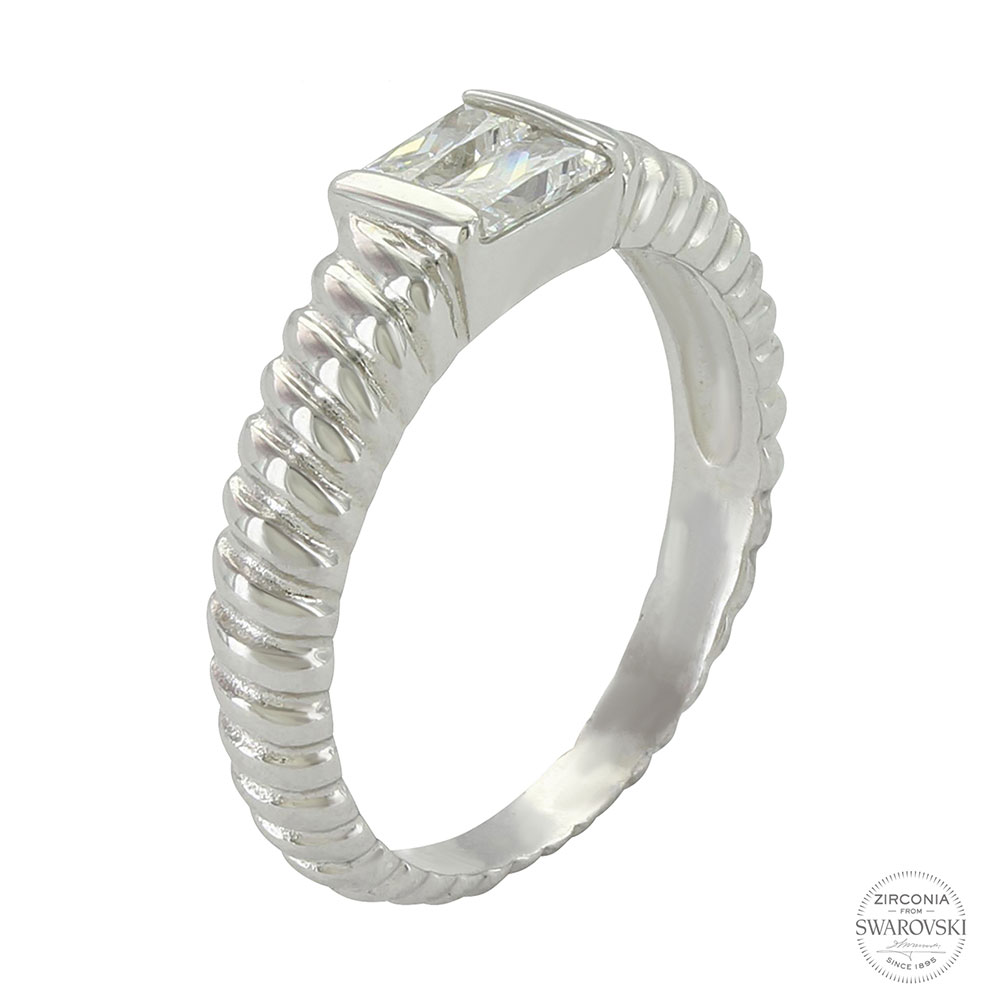 Sterling Lane Perfect Pair Rope Ring