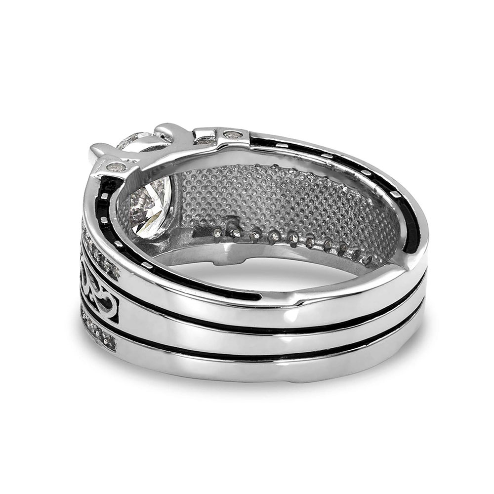 Sterling Lane Can't Help Falling Deco Ring