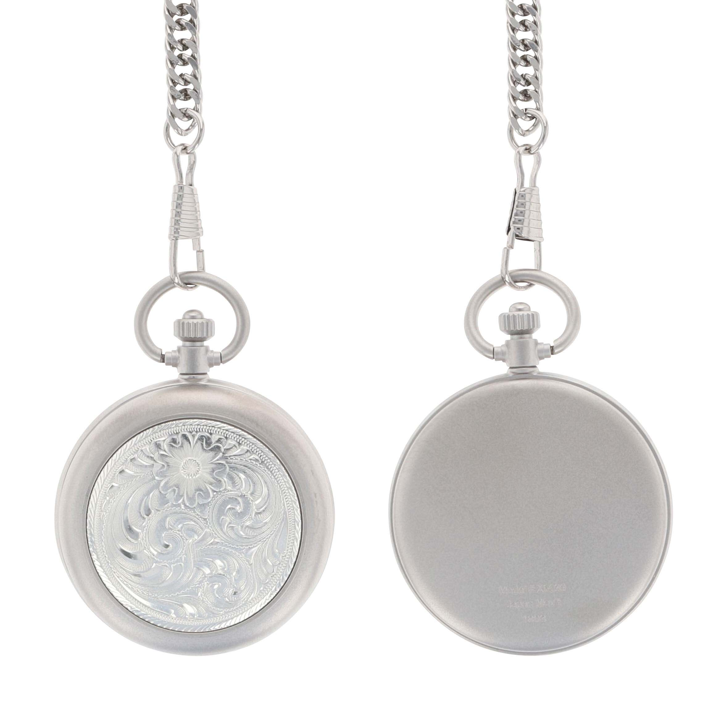 Engraved Silver, Small Silver Inlay, Pocket Watch