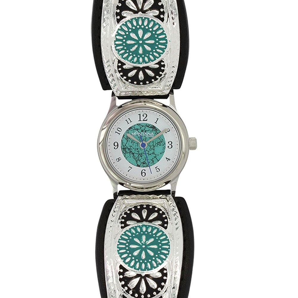 Night Prairie Turquoise Meadowbrite Leather Watch