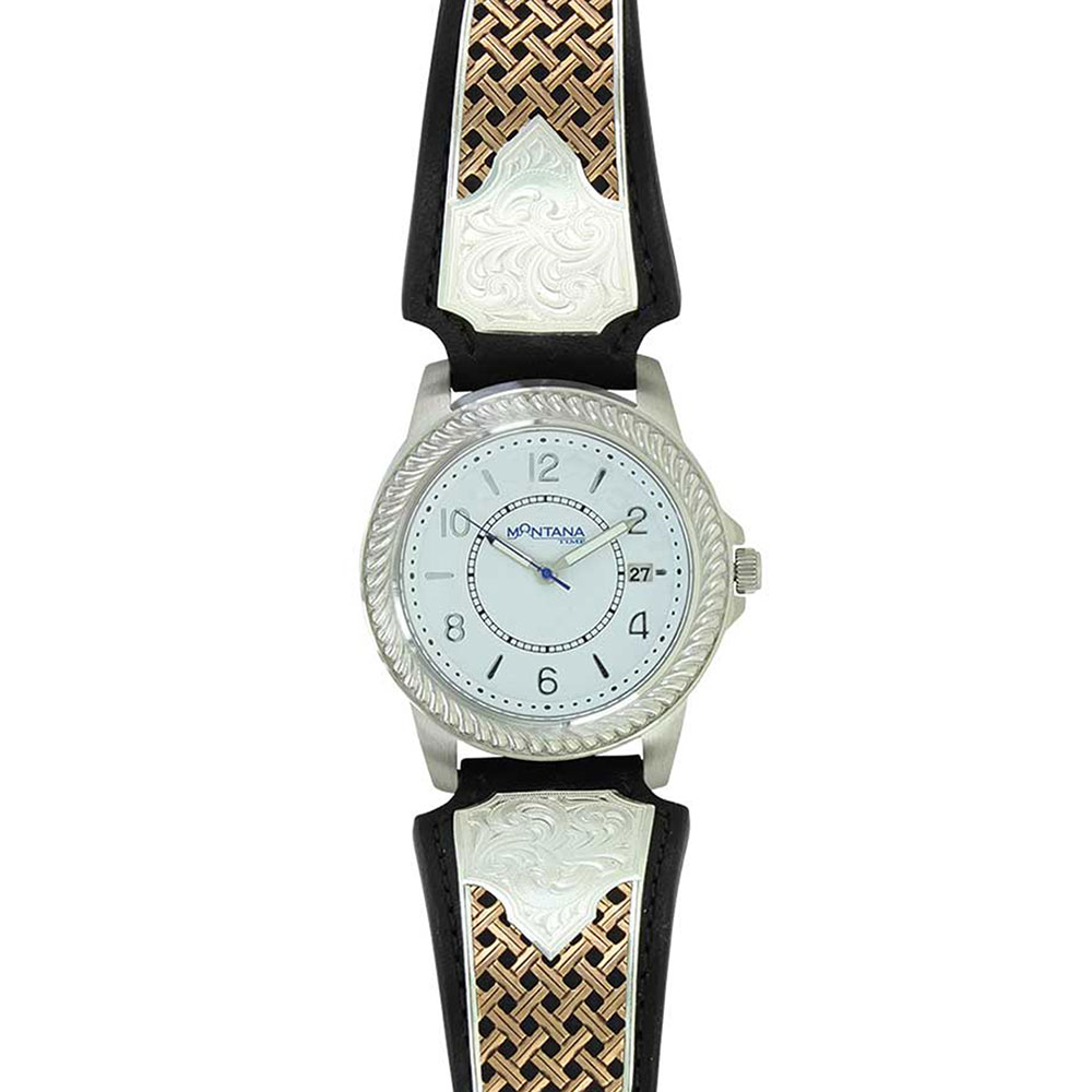 Legacy Weave Leather Watch