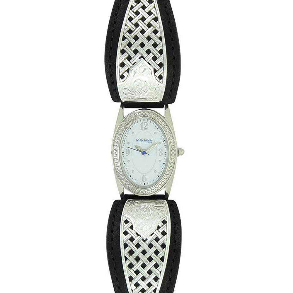 Simple Legacy Weave Leather Watch