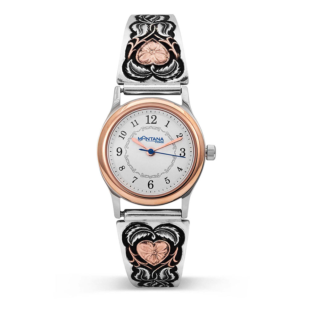 Hearts of Gold Ladies Expansion Band Watch
