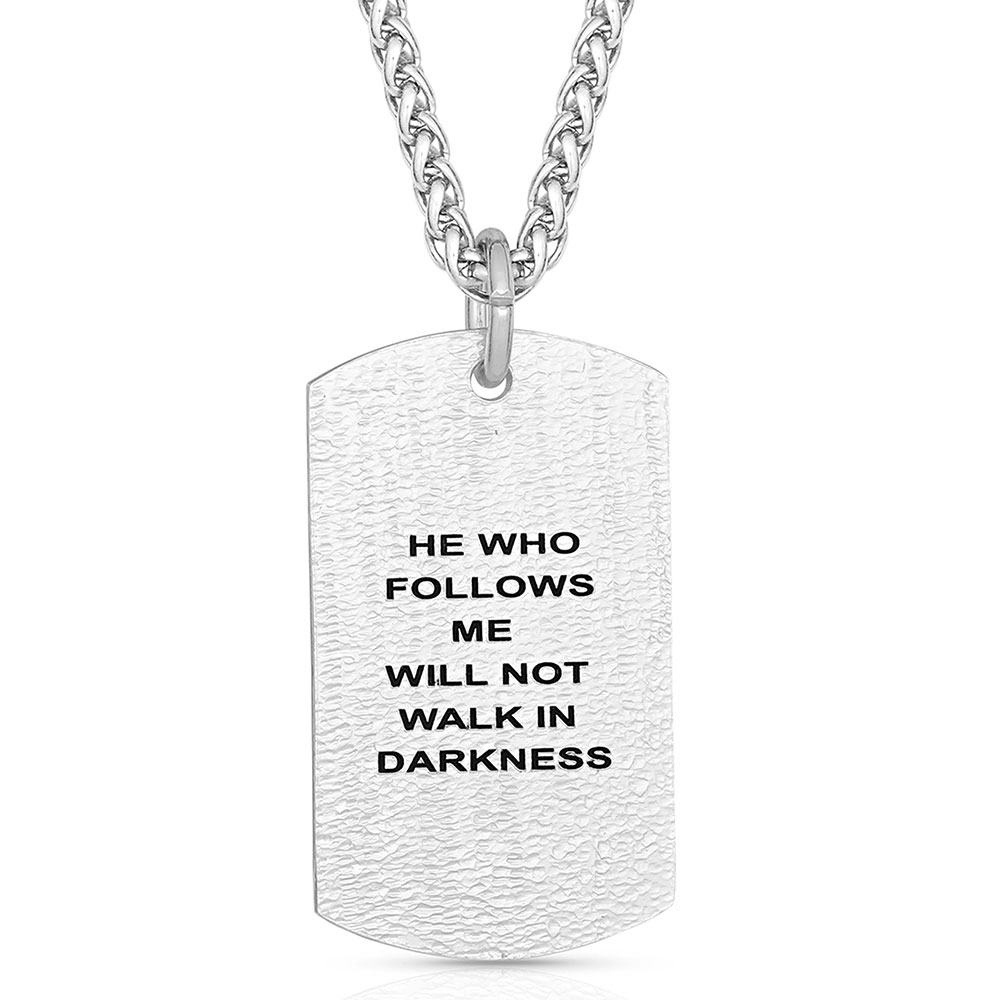 I Am the Light Dog Tag Necklace