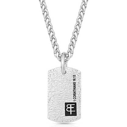 Lift Up In Faith Dog Tag Necklace