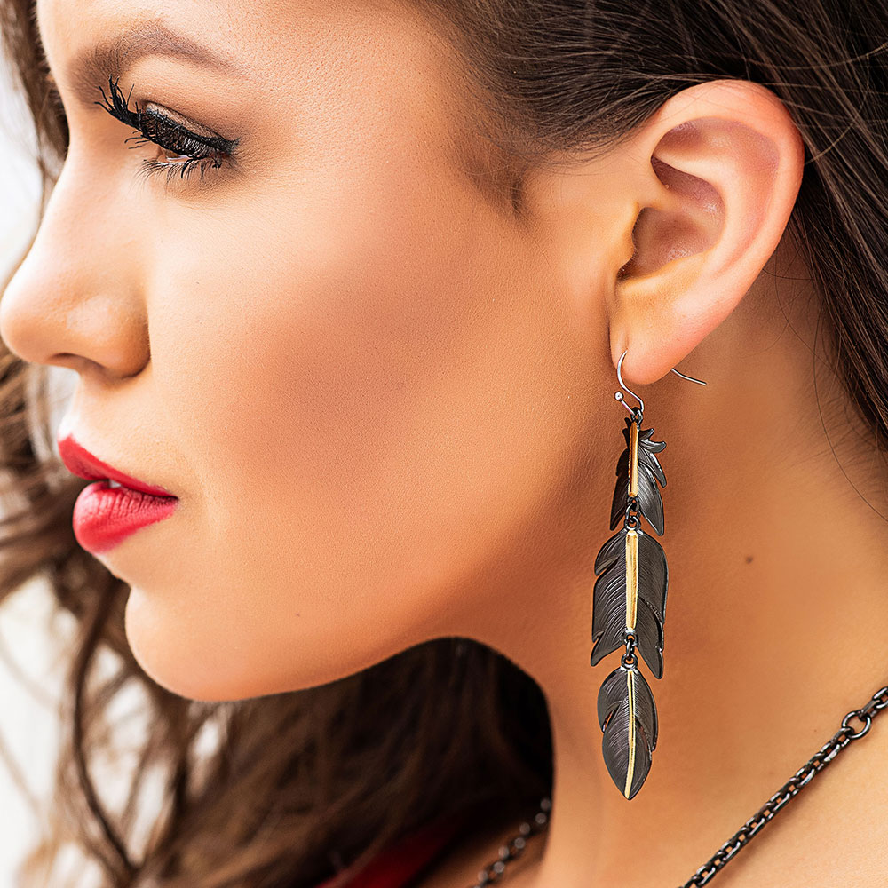 Wild & Free Eagle Feather Earrings