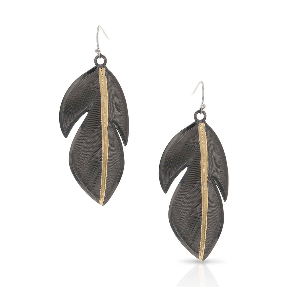 Wild & Free Feather Tip Earrings