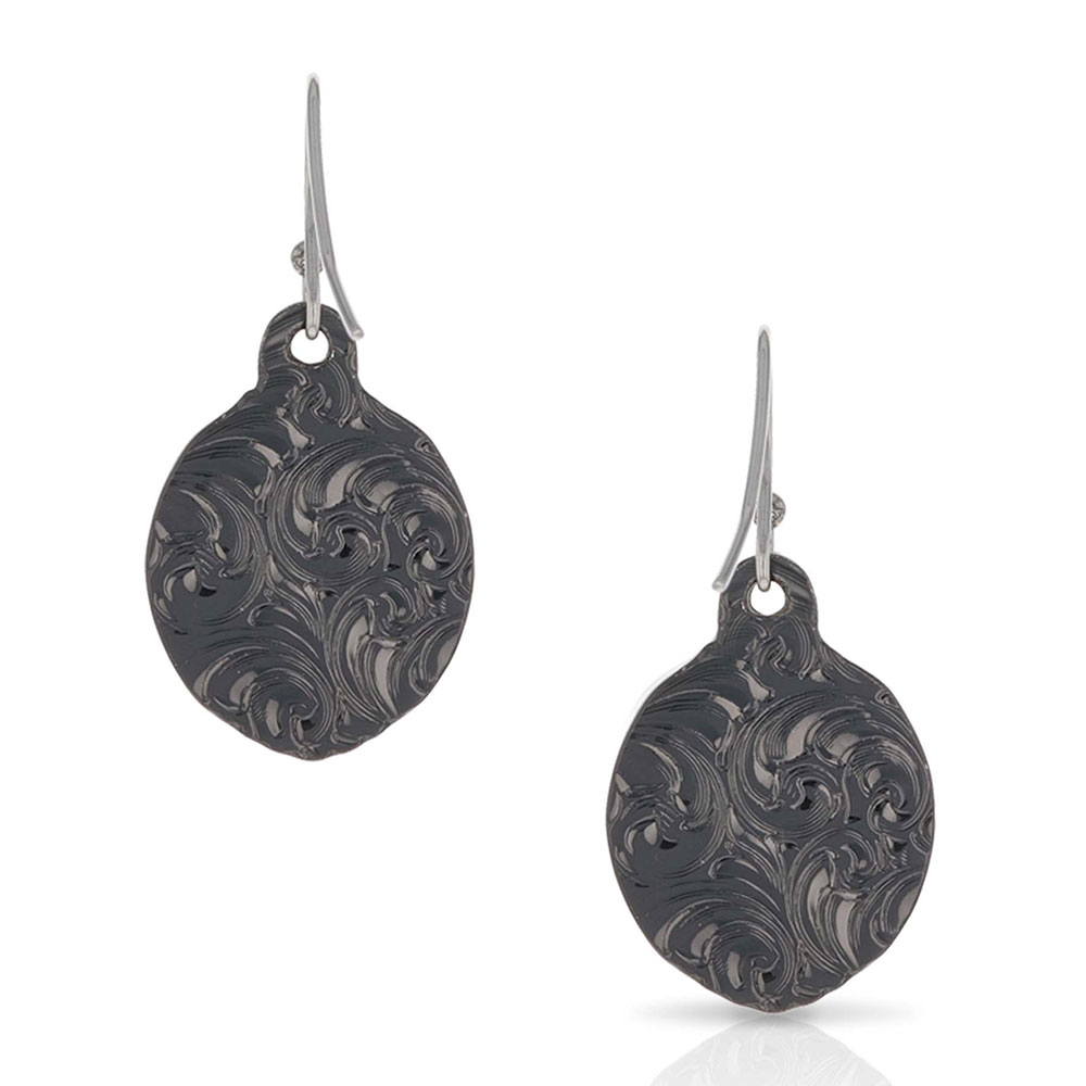 Rare Beauty Gunmetal Earrings