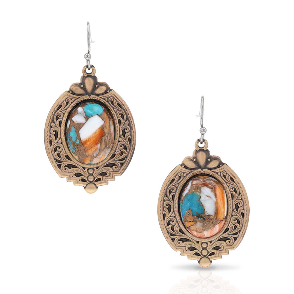 Grand Prismatic Turquoise Earrings