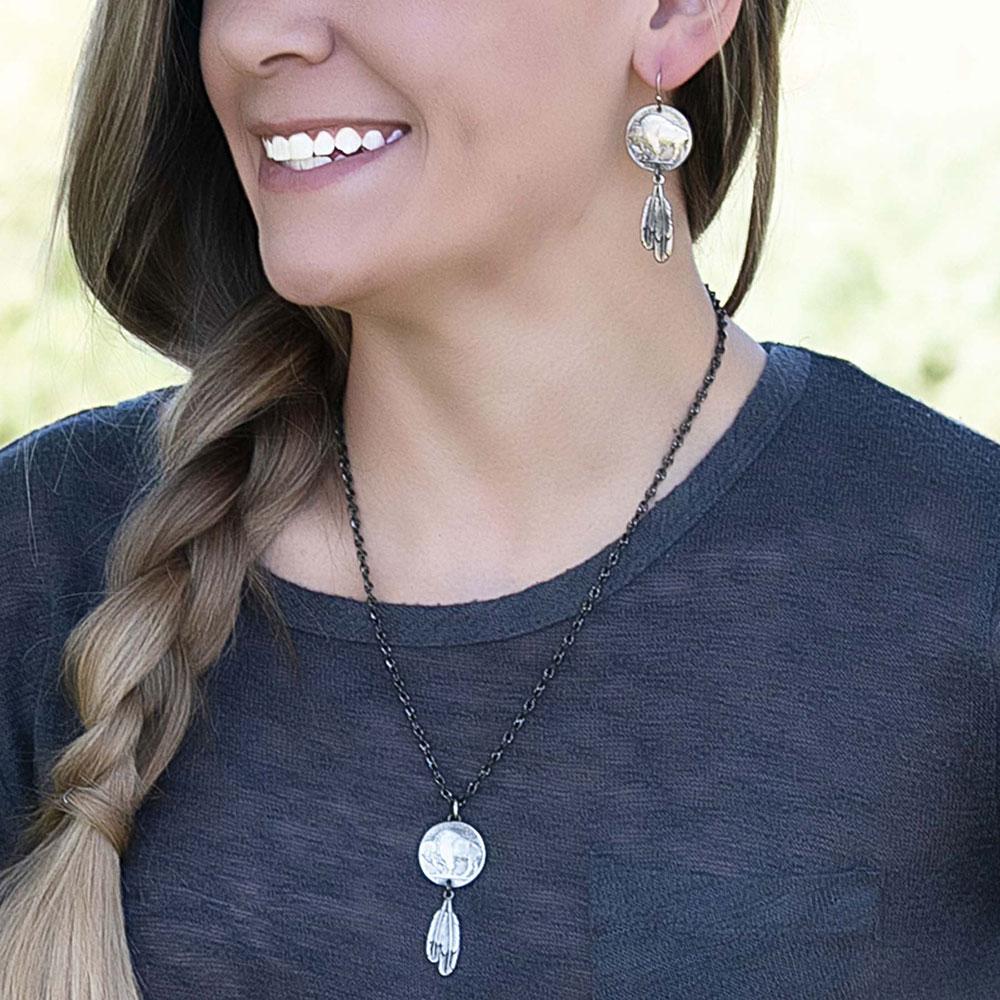 Roam Free Buffalo Nickel Earrings